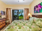 Master bedroom suite with private lanai on the ocean side