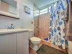 2 separate bathrooms offers enough space and privacy for all guests.