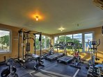You won't miss a workout with the onsite fitness center!