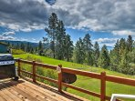 Cookout on the gas grill as you take in the views of Flathead Lake.