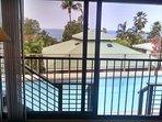 Master Bedroom Views of pool and Ocean