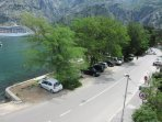 As seen from apartment - Kotor, parking spaces, road to Kotor and of course - great scenery
