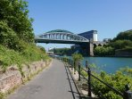 Riverbank walk along the Wear, Sunderland