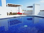 PRIVATE SWIMMING POOL ON ROOF TERRACE