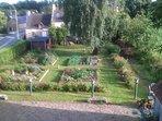 Vue sur le jardin potager