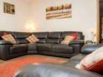 a large comfy corner sofa