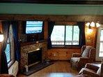 Living Room with seasonal fireplace