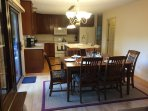Kitchen/Dining area, can be expanded to seat 8 comfortably