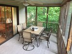 Screened in porch, just off the living room