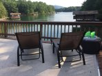 Lounges on the upper dock