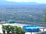Veranda grande, panorama sulla Val di Nievole