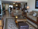Comfortable, high quality couch and loveseat with open concept floor plan