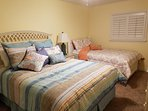 Queen and full size beds with new mattresses comfortably sleeps 4.