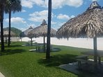 Beachfront Tiki dining area for use only by Sea Oats Residents.