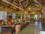 Spacious Hawaiian Style Living Area, Oceanfront Views
