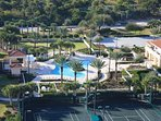 Minorca has clay tennis courts and a beach clubhouse
