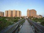 Boardwalk from Complex to Beach