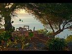 The Yoga beach sand terrace with sunrise colours