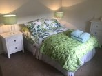 The cottage's lovely double bedroom