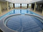 Indoor pool ,sauna, and bubble pool open from 10 till 6pm
