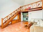 Adjacent Independent Annex apartment with lounge kitchen Mezzanine bedroom and shower/bathroom