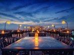 Sky Bar & Restaurant Locate at Soi Kingkaew 64 from condo 5 mins taxi drive no more than 70 Bath