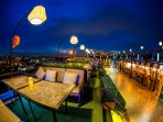 Sky Bar & Restaurant Locate at Soi Kingkaew 64 from condo 5 min taxi drive no more than 70 baths