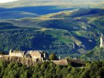 Ariel veiw of Stirling Castle and the Ochill hills