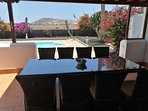 Outdoor dining seats 8 persons