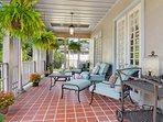 Porch with original terra cotta tiles