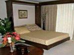 Bed queen size in living room