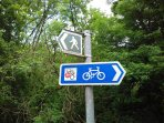 We are on the 'Blue Seas and Honey Bees' cycle path, plus many footpaths to be discovered!