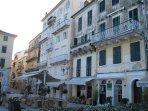 Cafes abundant in Old Corfu Town