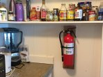 Fire extinguisher in the pantry area as per Maui County code.