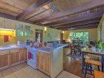 Kitchen, Living & Indoor Dining