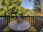 The cozy lanai - perfect for your morning coffee.