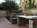 stone-table and stairs-patio