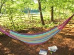 Hammock in the Beech trees for relaxed times at the farm.