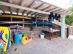 Surf and body board zone at Finca De Arrieta