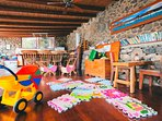 Toy box and books  at Finca De Arrieta