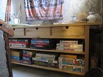Snowgums' games cupboard
