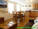 Spacious lounge, kitchen and diner