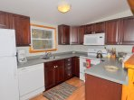 The kitchen features up to date appliances to help make cooking a bit easier.