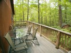 Share a meal or savor your morning coffee on the deck while you take in the sounds of nature.