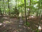 The trail down to Sleepy Creek - Find your peace or have some fun!