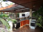The outdoor community kitchen/bar