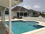 private pool and verandah