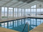 Indoor heated pool with amazing gulf view