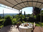 Panoramic terrace with gazebo for al-fresco dining