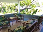 More seating on the lanai (covered porch).